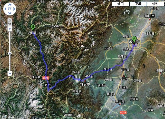 川藏线第一天的行程